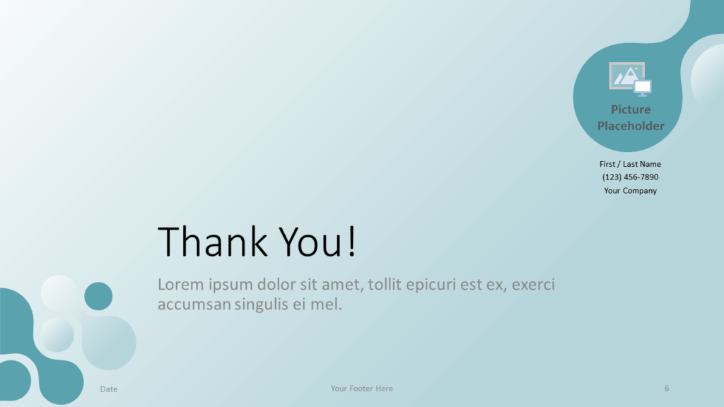 Free Molecular Template for Google Slides - Closing Slide