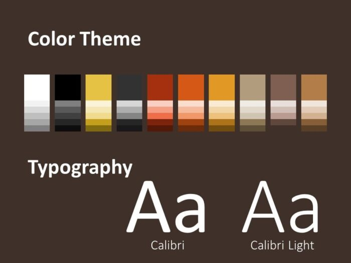 Free BARISTA Template for PowerPoint – Colors and Fonts