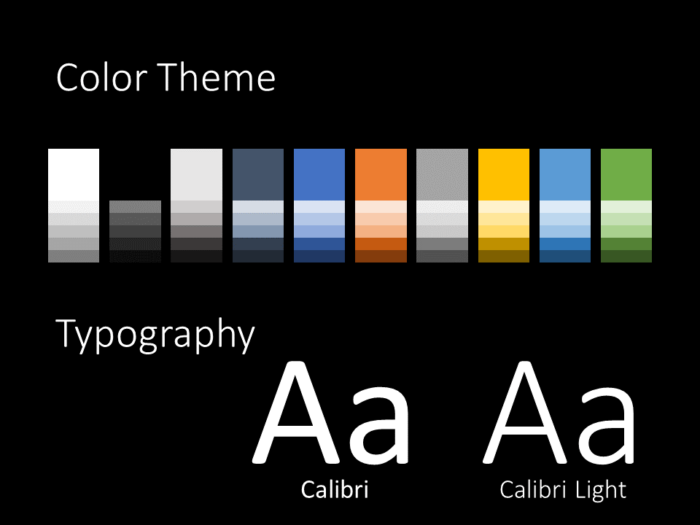 Free DARK ROADS Template for PowerPoint – Colors and Fonts