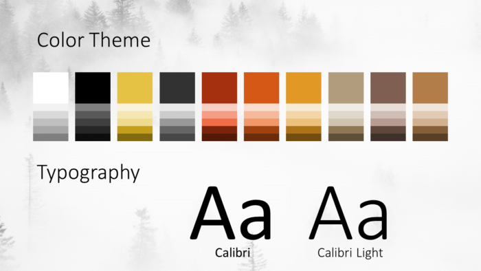 Free Foggy Forest Template for Google Slides – Colors and Fonts