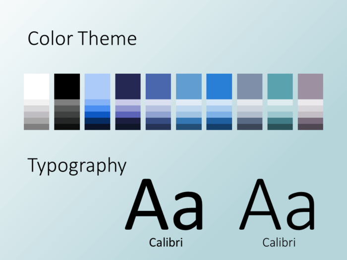 Free Molecular Template for PowerPoint - Colors and Fonts
