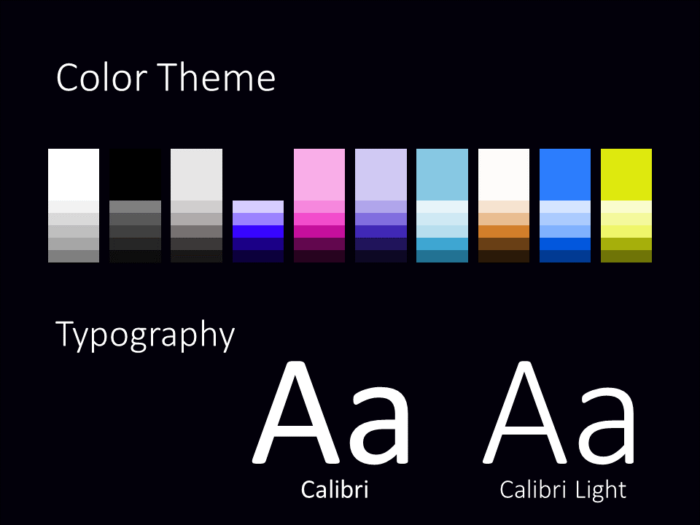 Free NEON SIGNS Template for PowerPoint – Colors and Fonts
