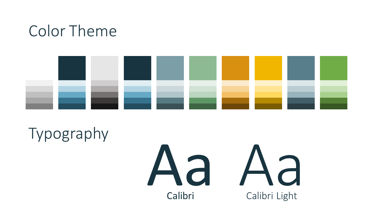 Free Office Drops Template for Google Slides - Colors Fonts