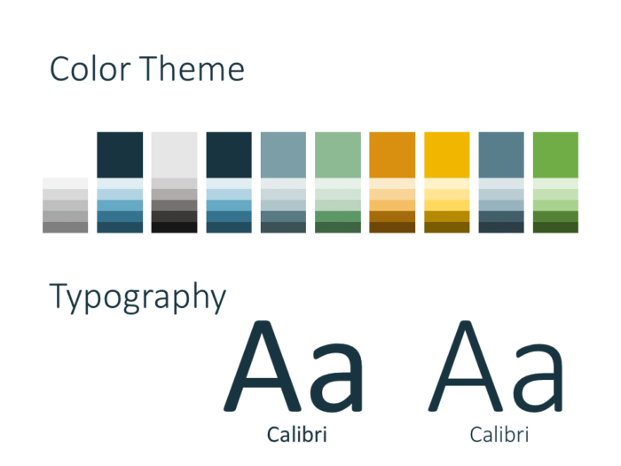 Free Office Drops Template for PowerPoint - Colors Fonts