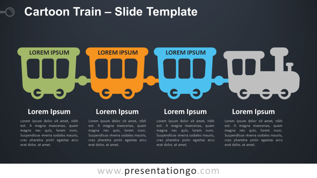 Free Cartoon Train Infographics for PowerPoint and Google Slides