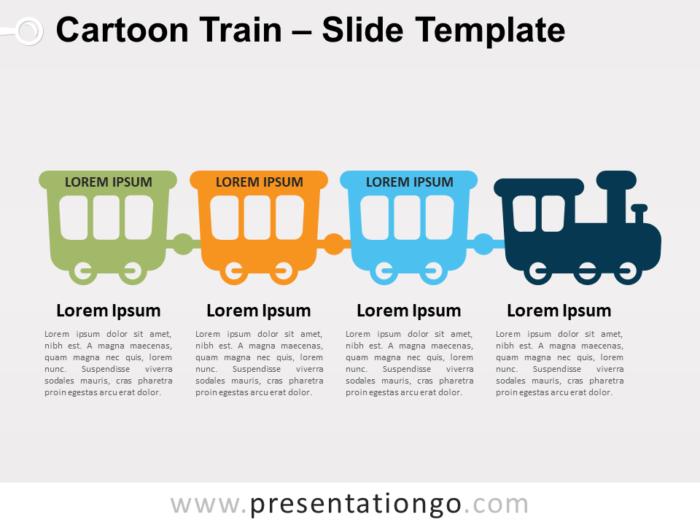 Free Cartoon Train for PowerPoint