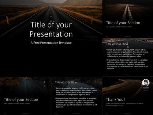 Free DARK ROADS Template for PowerPoint and Google Slides