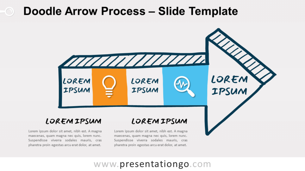 Free Doodle Arrow Process Diagram for PowerPoint and Google Slides