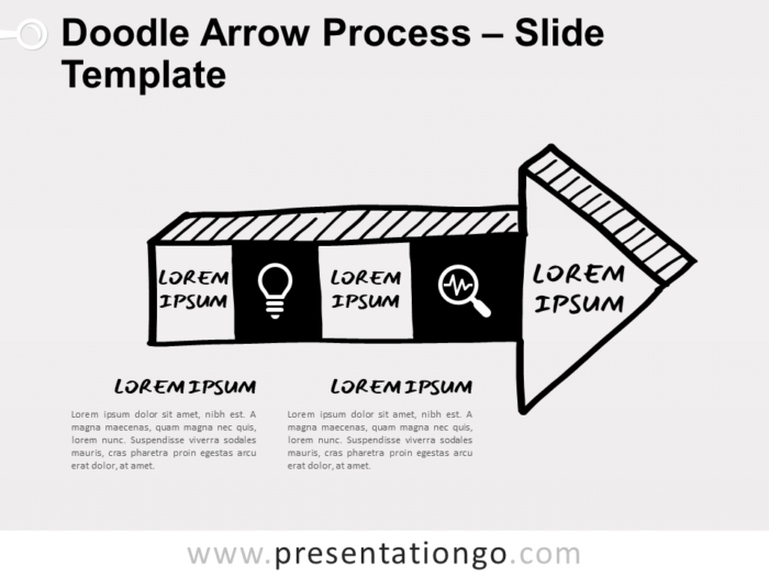Free Doodle Arrow Process for PowerPoint