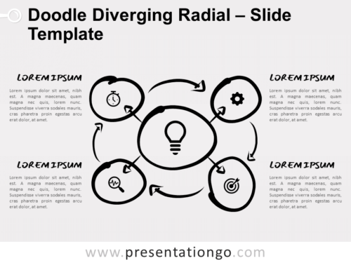Free Doodle Diverging Radial for PowerPoint