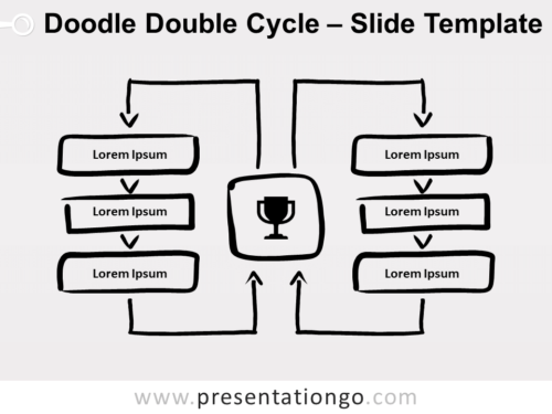 Free Doodle Double Cycle for PowerPoint