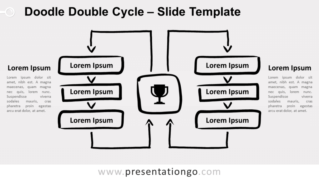 Free Doodle Double Cycle for PowerPoint and Google Slides