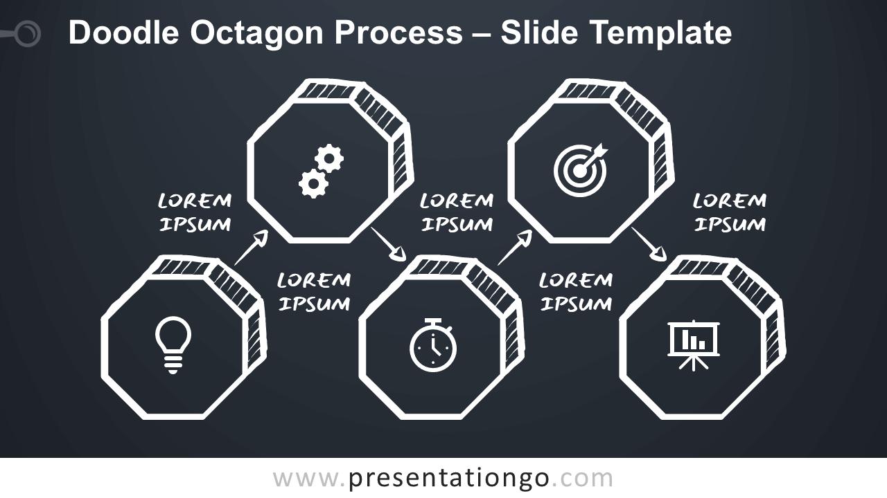 Free Doodle Octagon Process for Google Slides