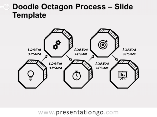 Free Doodle Octagon Process for PowerPoint