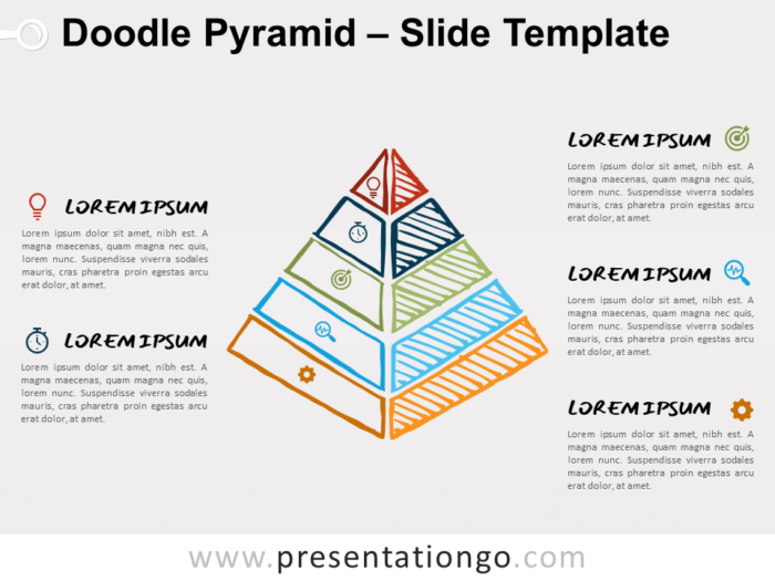 Free Doodle Pyramid Diagram for PowerPoint