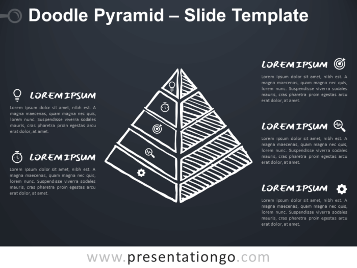 Free Doodle Pyramid for Google Slides and PowerPoint