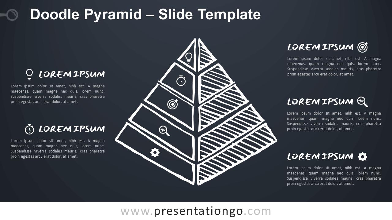 Free Doodle Pyramid for Google Slides