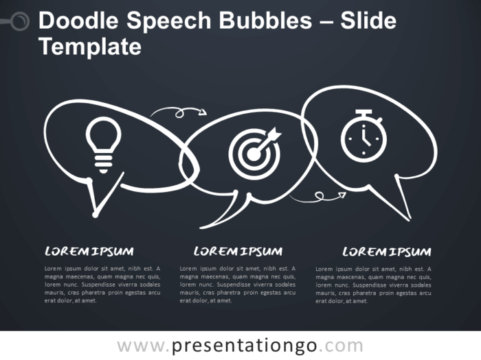 Free Doodle Speech Bubbles for Google Slides and PowerPoint