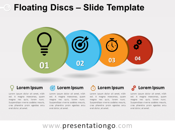 Free Floating Discs for PowerPoint