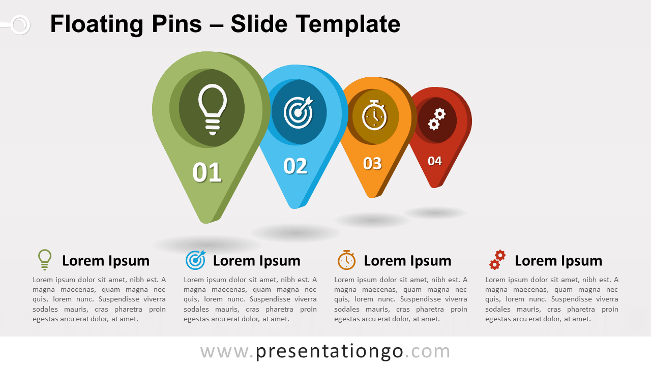 Free Floating Pins for PowerPoint and Google Slides