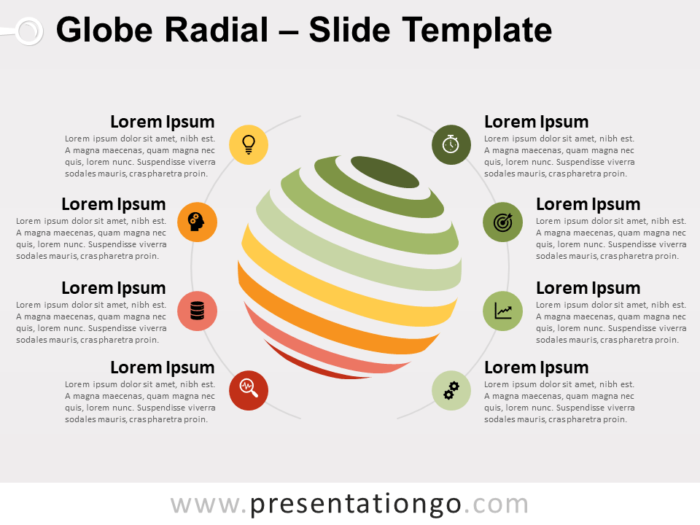 Free Globe Radial for PowerPoint
