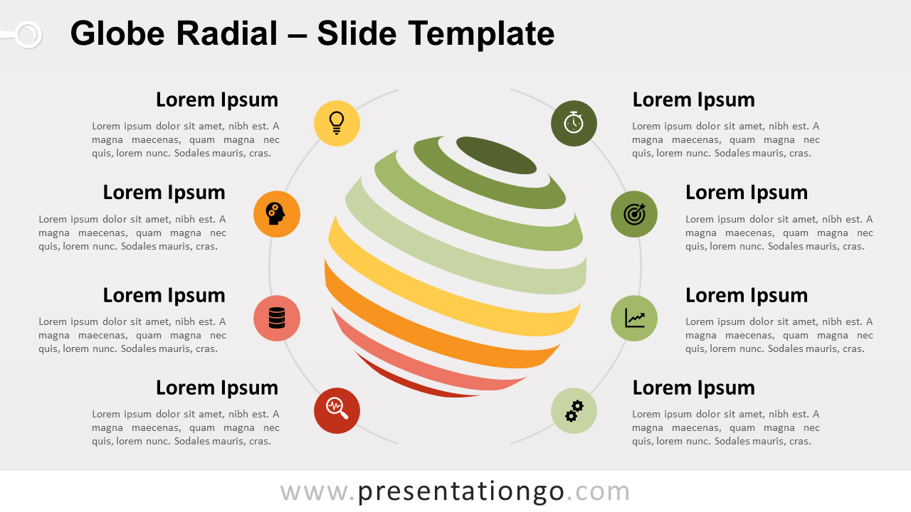 Free Globe Radial for PowerPoint and Google Slides