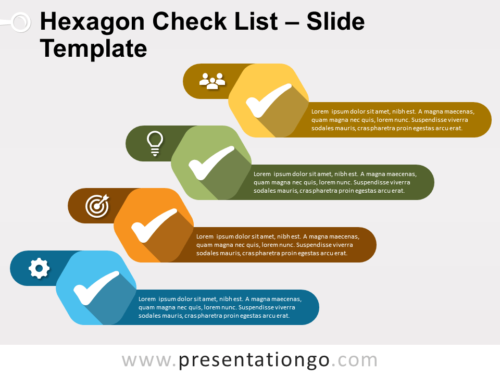 Free Hexagon Check List for PowerPoint