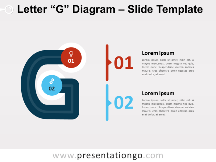 Free Letter G Diagram for PowerPoint