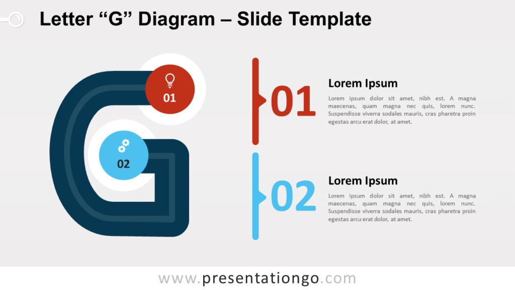 Free Letter G Diagram for PowerPoint and Google Slides