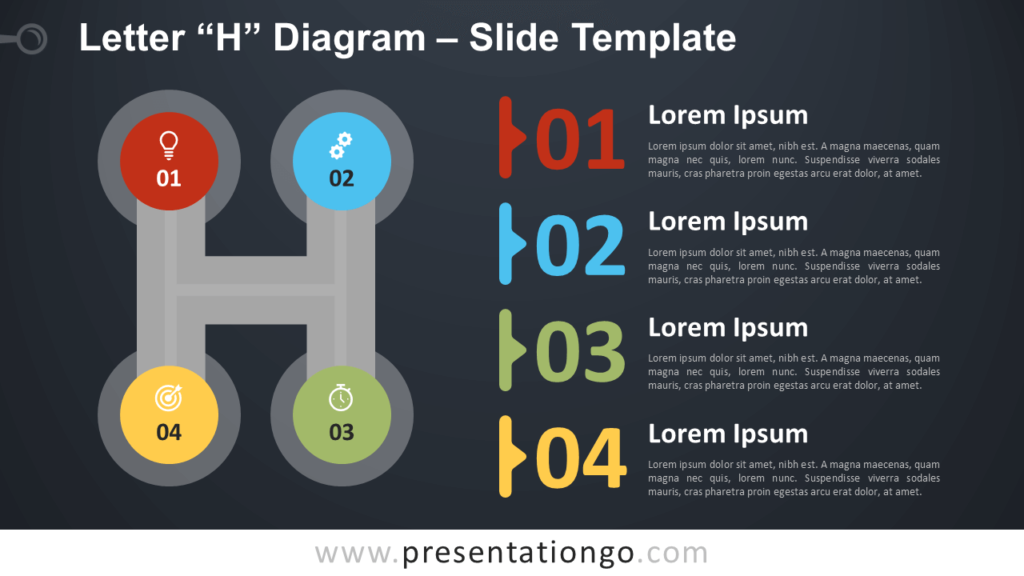Free Letter H Diagram Infographic for PowerPoint and Google Slides