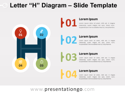Free Letter H Diagram for PowerPoint