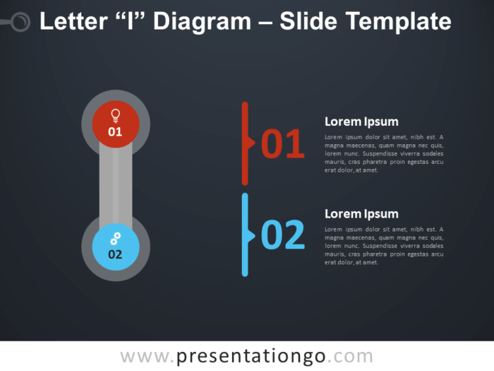 Free Letter I Diagram Infographic for PowerPoint