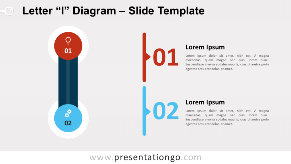 Free Letter I Diagram for PowerPoint and Google Slides