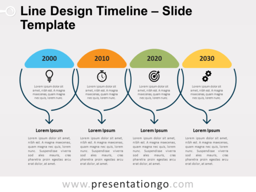 Free Line Design Timeline for PowerPoint