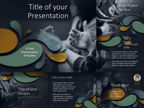 Free Office Drops Template for Google Slides and PowerPoint