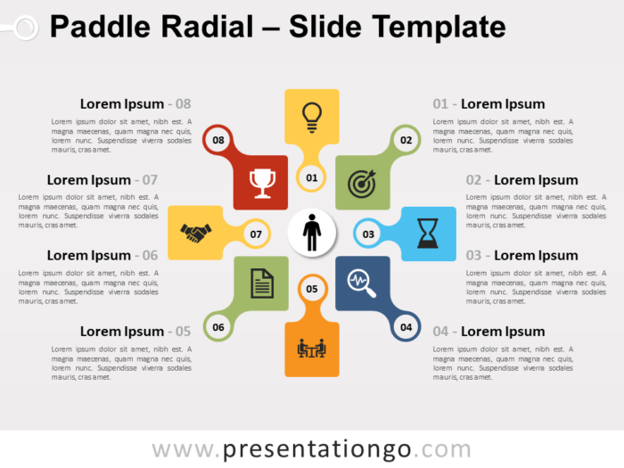 Free Paddle Radial for PowerPoint
