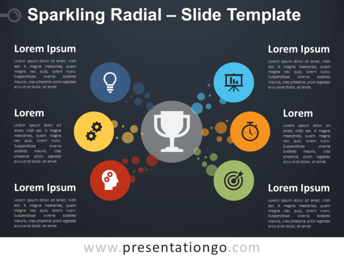 Free Sparkling Radial Diagram for PowerPoint