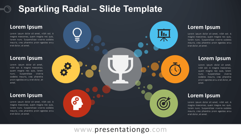 Free Sparkling Radial Diagram for PowerPoint and Google Slides