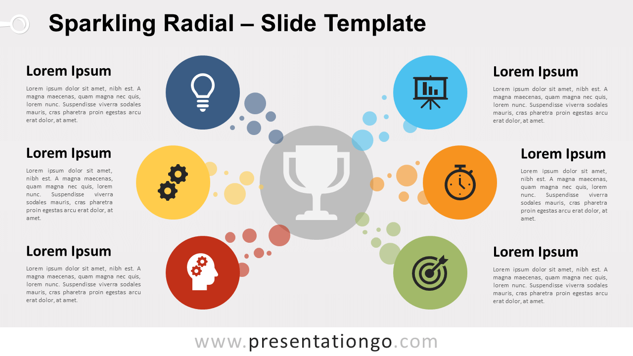 Free Sparkling Radial for PowerPoint and Google Slides