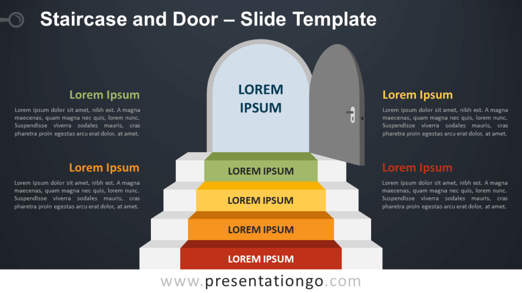 Free Staircase Door Infographic for PowerPoint and Google Slides