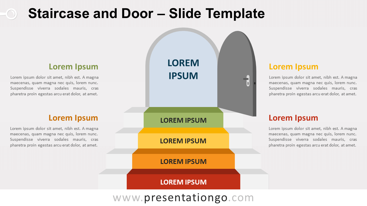 Free Staircase Door for PowerPoint and Google Slides