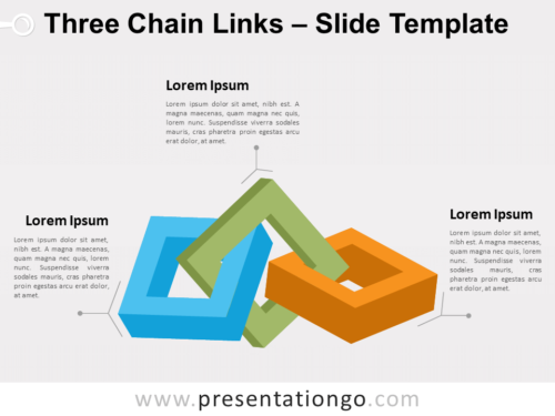 Free Three Chain Links for PowerPoint