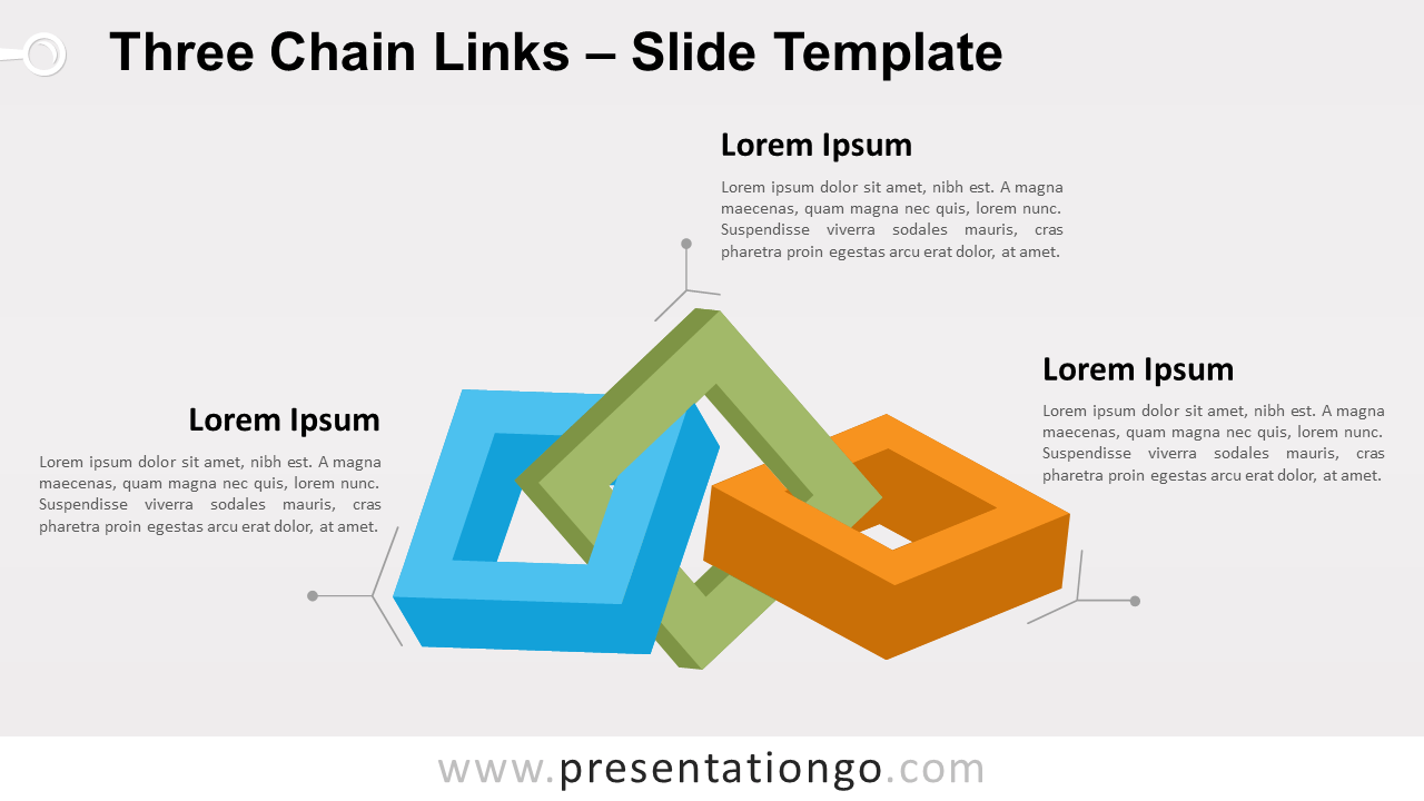 Free Three Chain Links for PowerPoint and Google Slides