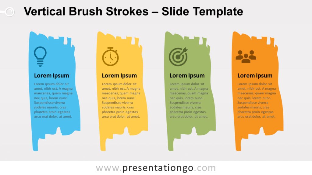 Free Vertical Brush Strokes for PowerPoint and Google Slides