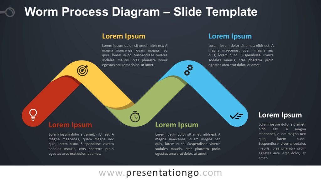 Free Worm Process Diagram Infographic for PowerPoint and Google Slides
