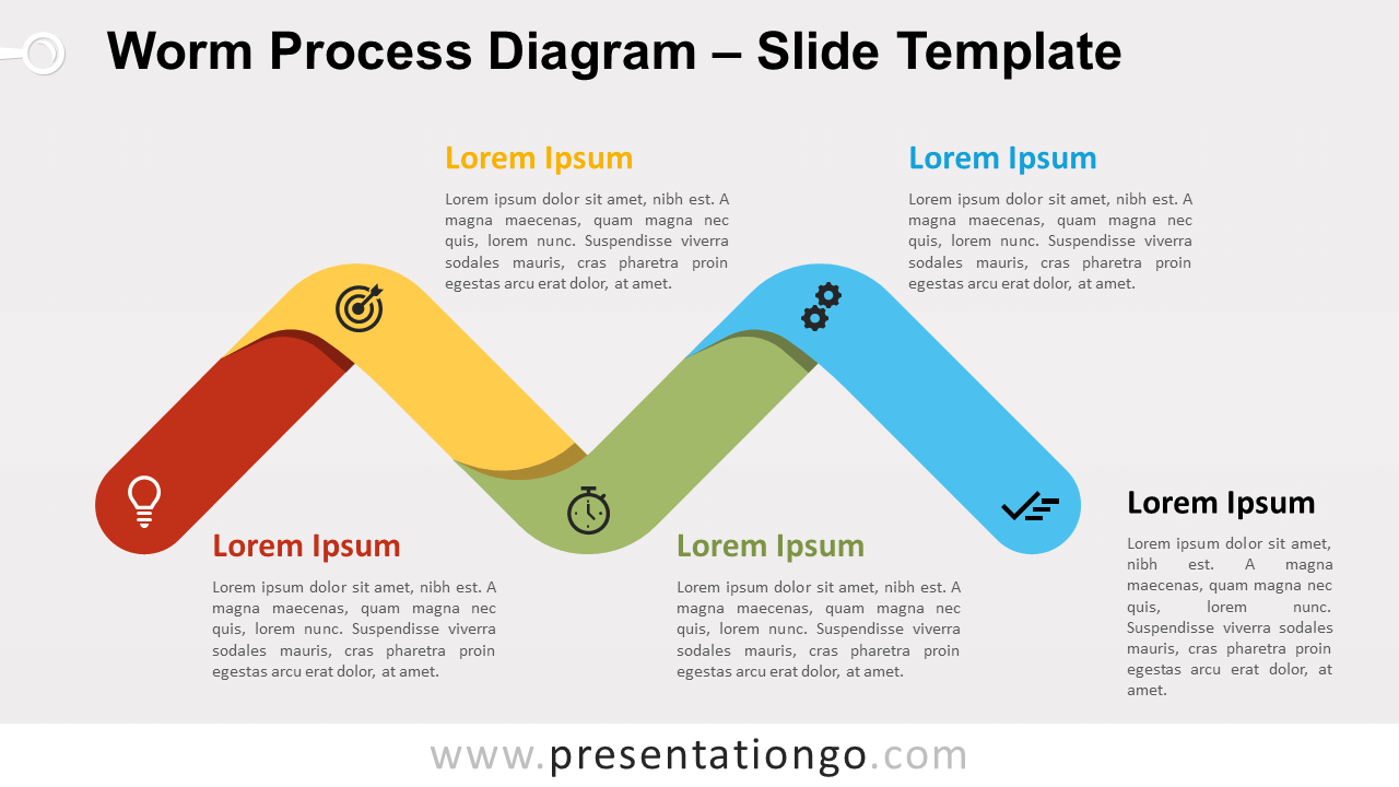 Free Worm Process Diagram for PowerPoint and Google Slides