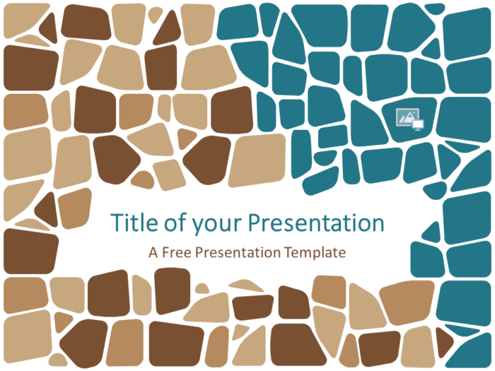 Free Stone Mosaic Template for Google Slides - Cover Slide