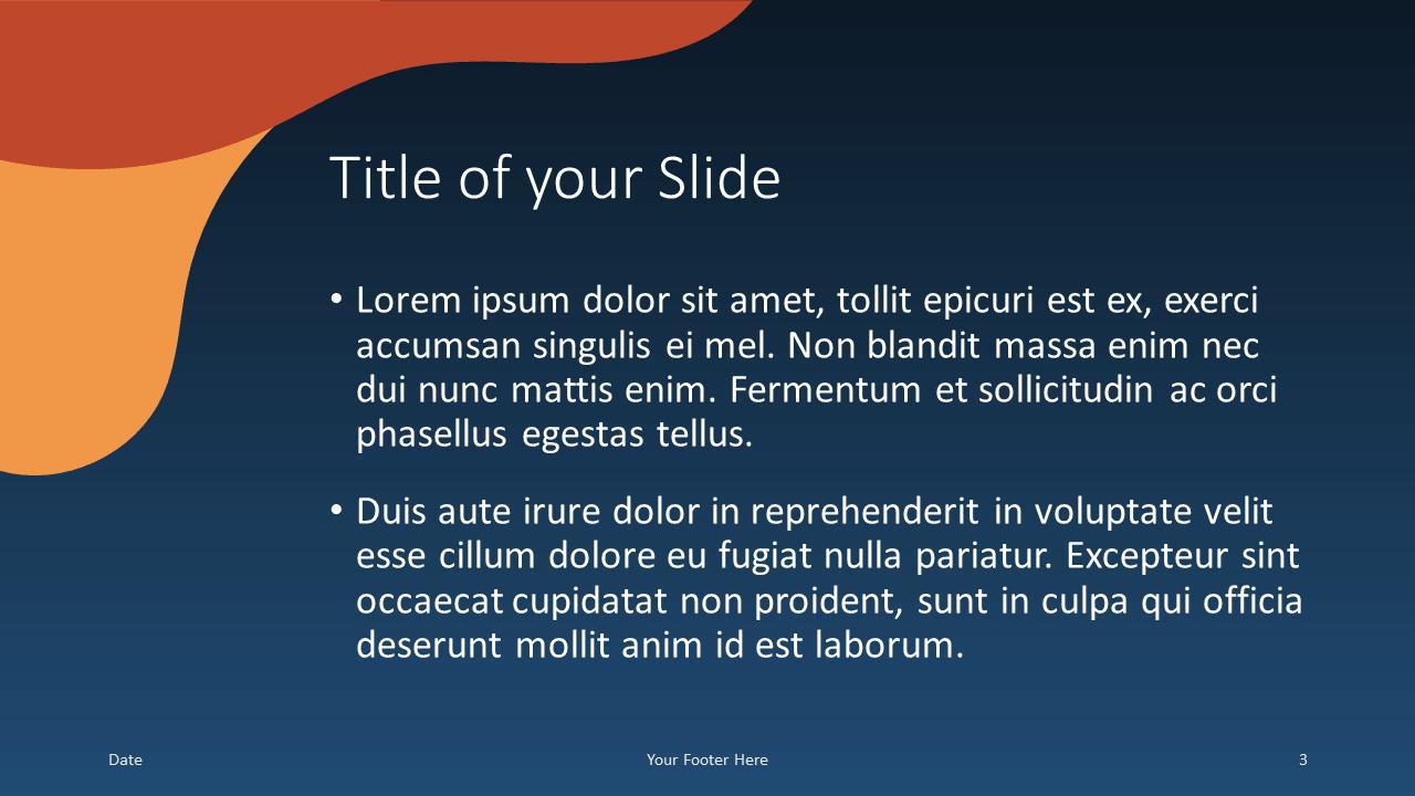 Free FLUID Template for Google Slides – Title and Content Slide (Variant 2)