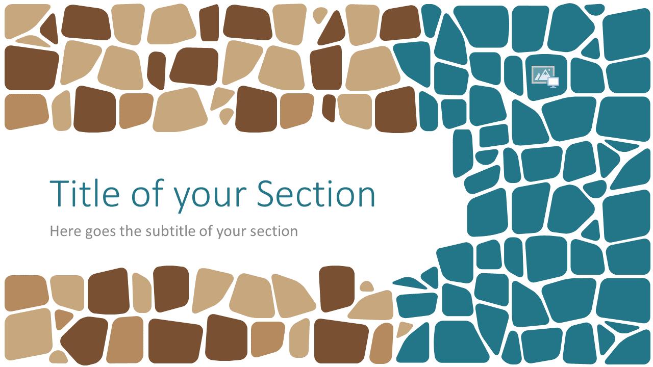Free Stone Mosaic Template for Google Slides – Section Slide (Variant 1)