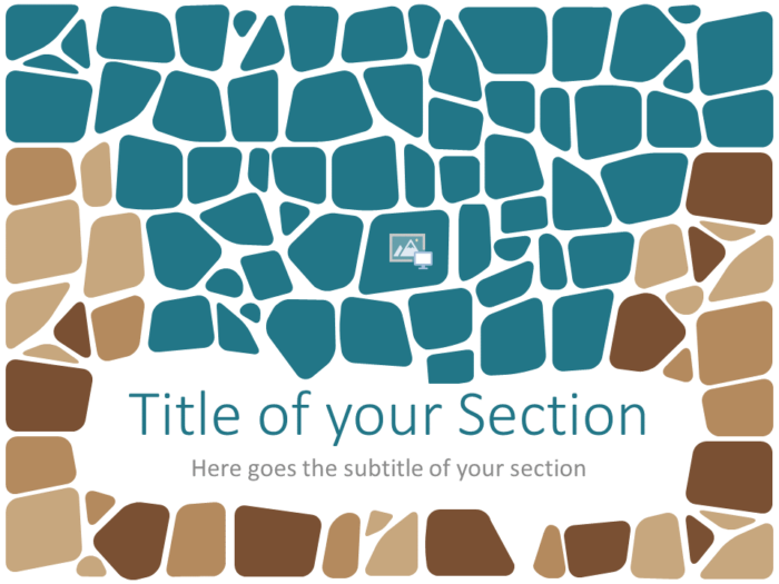 Free Stone Mosaic Template for PowerPoint – Section Slide (Variant 2)